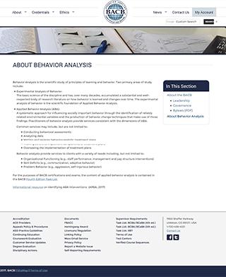 About Behavior Analysis